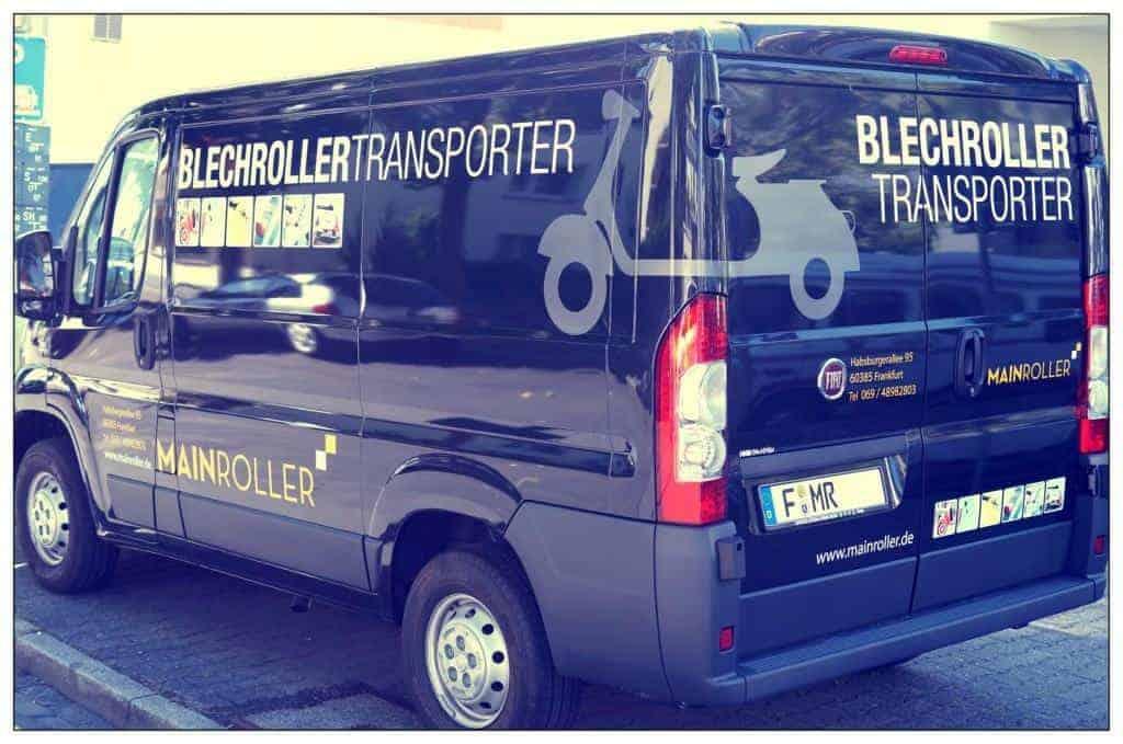 Blechrollertransporter - Koorperation Mainroller und HMB Graphix