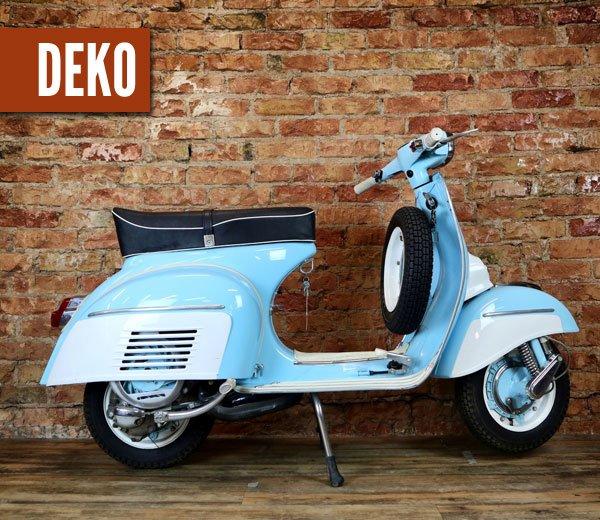 Deko Vespa 150 Sprint – blauweiss