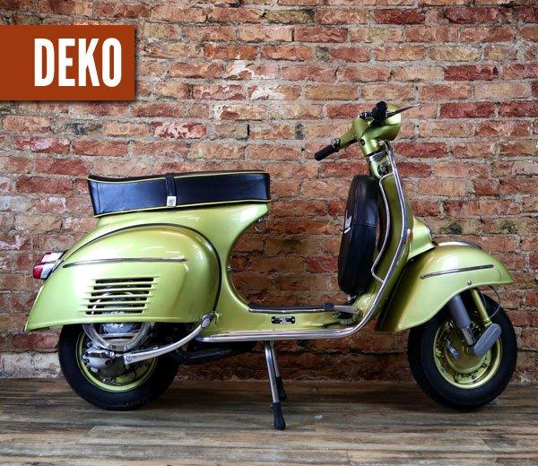 Deko Vespa 150 Super – goldgelb