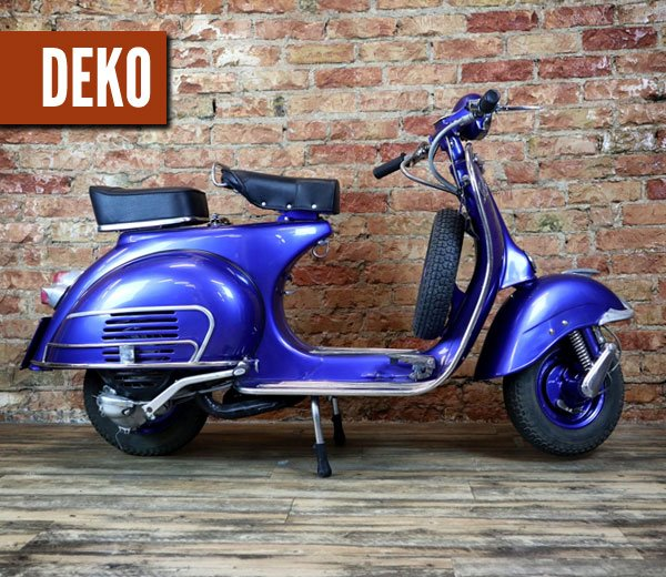 Deko Vespa 150 blau custom