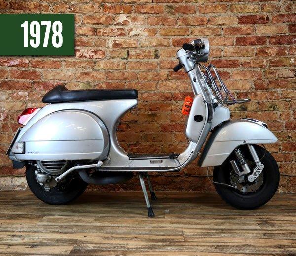 Vespa P200E silber 1978